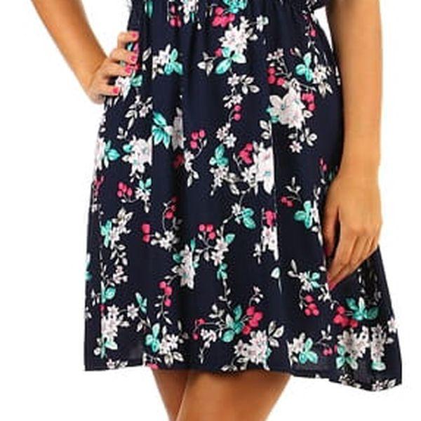 Krátké letní vzorované šaty černá5
