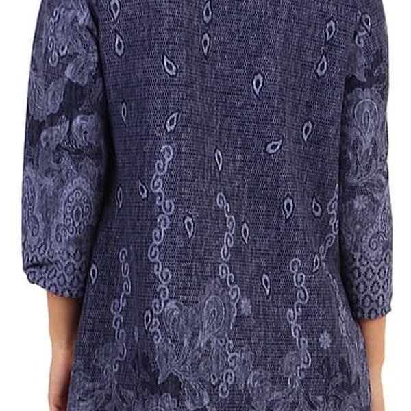 Dámské šaty áčkového střihu - i pro plnoštíhlé petrolejová5