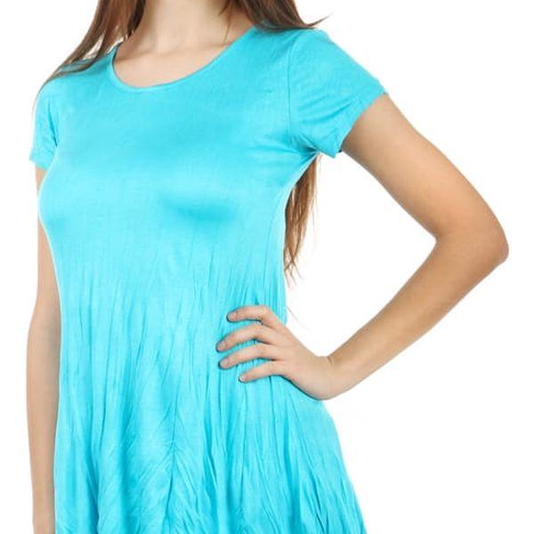 Pohodlné tričko s krátkým rukávem modrá
