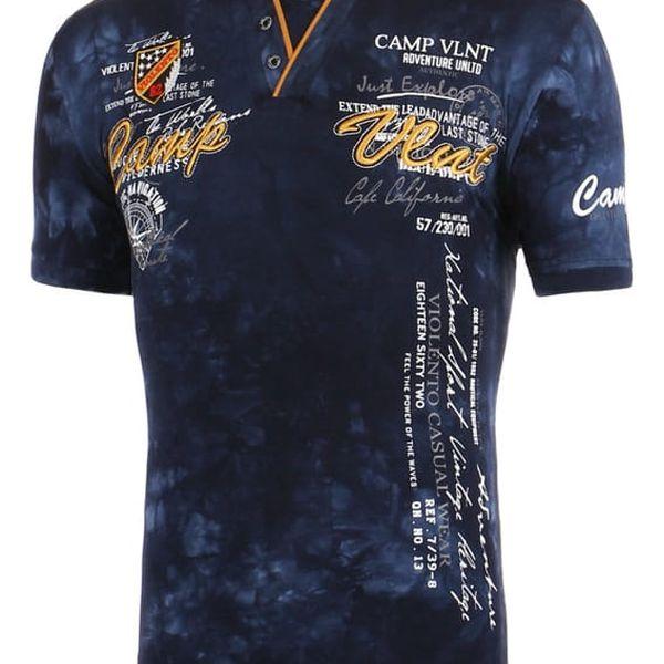 Pánské batikované tričko s nápisem tmavě modrá4