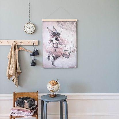 MRS. MIGHETTO Plakát MISS PENNY 50 x 70 cm - Limited Edition, růžová barva, šedá barva, papír