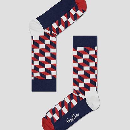 Ponožky Happy Socks barevné se vzorem Filled Optic Barevná