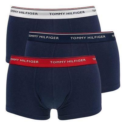 3PACK pánské boxerky Tommy Hilfiger low rise trunk tmavě modré s basic gumou XL