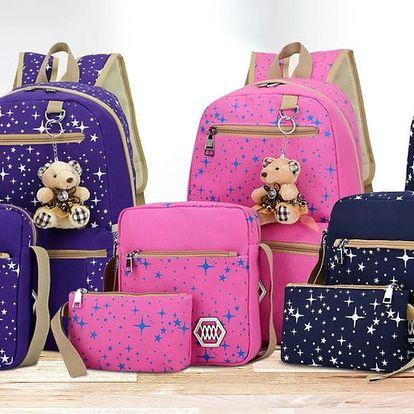 Sada batohu, kabelky a pouzdra - více barev