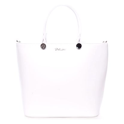 Luxusní dámská kabelka bílá - Delami Chantal bílá