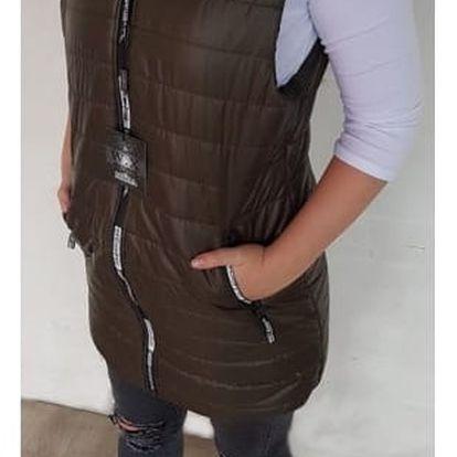 Dámská prošívaná vesta s kapucí Linsy