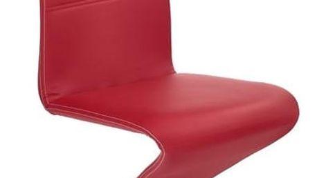 Kovová židle K188 Halmar červená