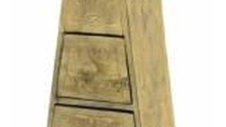 Garthen 99 Komoda - skříňka ve tvaru pyramidy 100 cm hnědá