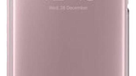 Samsung Galaxy A5 2017 (SM-A520C), flipové pouzdro, Clear View, růžové - EF-ZA520CPEGWW