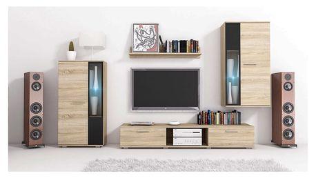 MEBLINE Levná obývací stěna SALSA sonoma