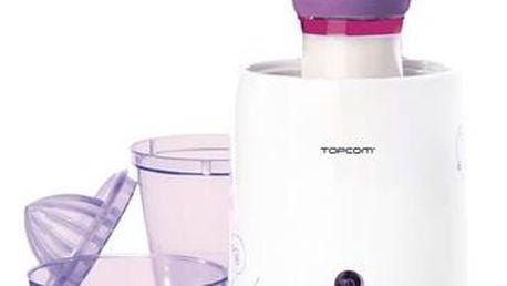 Ohřívač kojeneckých lahví Topcom 301 - 3v1 bílý/fialový Hudební hračka Taf Toys Myška (zdarma) + Doprava zdarma