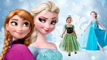 Kostým Frozen princezna Elsa nebo Anna z Ledového království, doručení zdarma