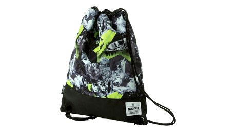 Vak Nugget Latte Benched Bag territory lime print