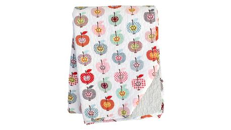 Krasilnikoff Bavlněný přehoz Apple, multi barva, textil