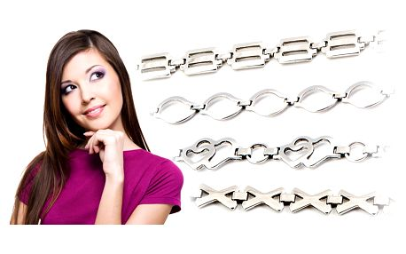 Set z chirurgické oceli: náramek a řetízek