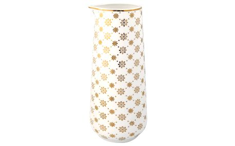 GREEN GATE Džbánek Laurie gold 700 ml, bílá barva, zlatá barva, porcelán