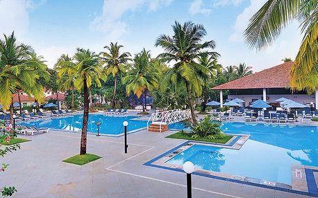 Hotel Dona Sylvia Beach Resort, Goa, Indie, letecky, all inclusive