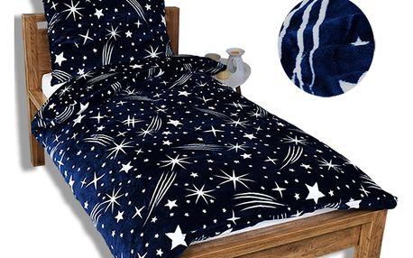 Homeville Homeville povlečení mikroplyš noční obloha tmavě modrá 140x200/70x90 cm