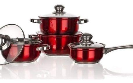 Banquet Maestro Red 8dílná sada nerez nádobí