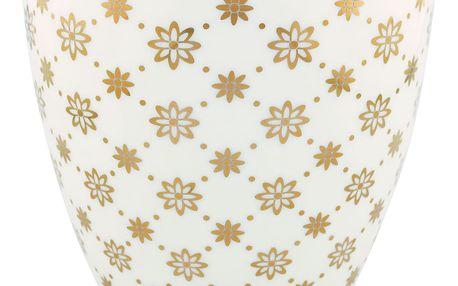 GREEN GATE Latte cup Laurie gold, bílá barva, zlatá barva, porcelán 300 ml