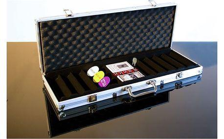 Garthen 493 Hliníkový kufr na 500 žetonů s příslušenstvím