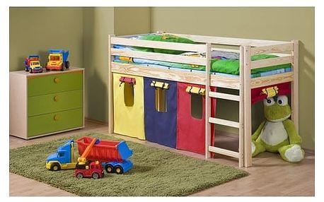 Dětská patrová postel Neo Halmar borovice