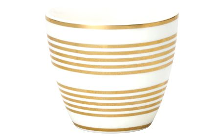 GREEN GATE Latte cup Thiana gold, bílá barva, zlatá barva, porcelán 300 ml