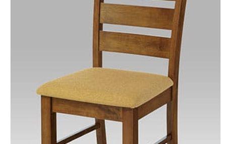 Jídelní židle barva ořech / potah pískový Autronic