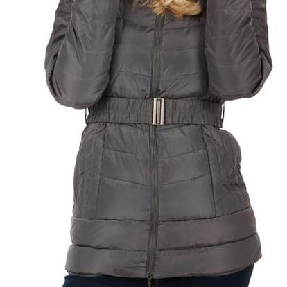 Dámská zimní bunda s kožíškem- i pro plnoštíhlé černá