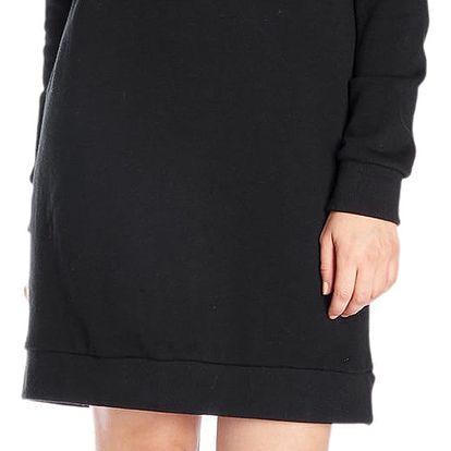Fornarina černé sportovní šaty Dock Multicolor Sweater
