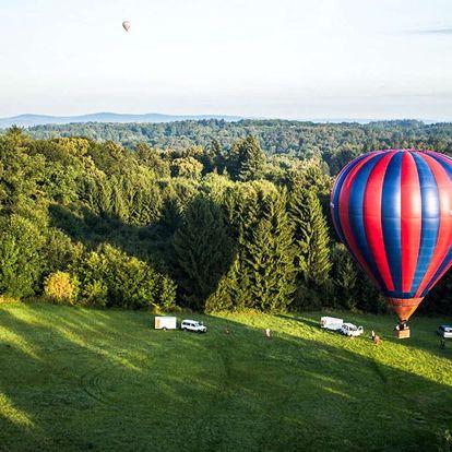 60minutový vyhlídkový let v horkovzdušném balónu