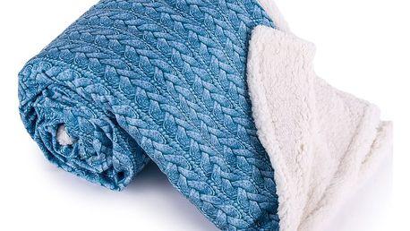 Jahu Beránková deka Maglia modrá, 150 x 200 cm