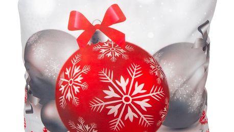 Forbyt Povlak na polštářek Vánoční ozdoby, 40 x 40 cm