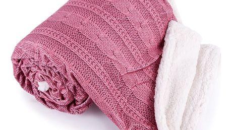 Jahu Beránková deka Agnello růžová, 150 x 200 cm