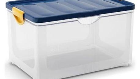 Kis Clipper Box XL průhledný-modré víko 60l