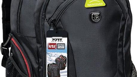 Port Designs COURCHEVEL batoh pro 14/15,6'' notebook a 10,1'' tablet, černo-červená - 160510 + Zdarma PORT CONNECT - přenosný outdoorový Bluetooth reproduktor (v ceně 349,-)