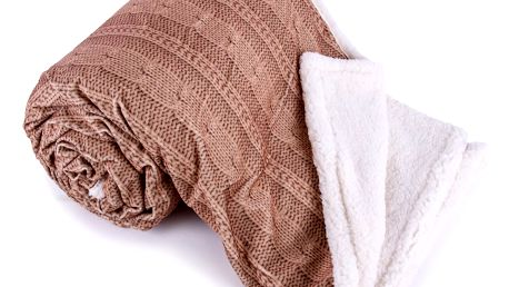 Jahu Beránková deka Agnello hnědá, 150 x 200 cm