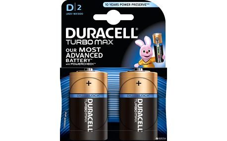 Duracell Turbo Max D, 2ks Dularolck - 10PP100032