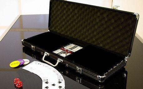 Garthen 503 Hliníkový kufr na 500 ks žetonů s příslušenstvím