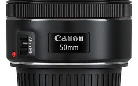 Objektiv Canon EF 50mm f/1.8 STM černý + DOPRAVA ZDARMA