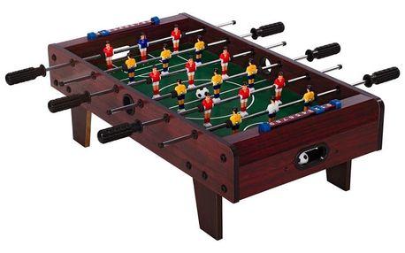Mini stolní fotbal fotbálek s nožičkami 70 x 37 x 25 cm - tmavý