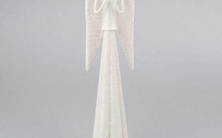 Dakls Kovový modlící se anděl, bílá
