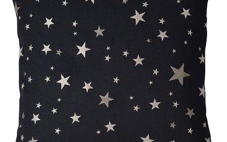 Sander Povlak na polštářek Star walk černá, 40 x 40 cm