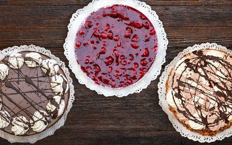 Lahodné dorty z cukrárny Pod kaštany – 3 druhy
