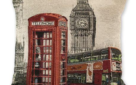 Jahu Povlak na polštářek Žakár London city, 45 x 45 cm