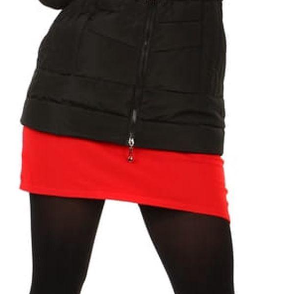 Dámská zimní bunda s kožíškem- i pro plnoštíhlé černá3