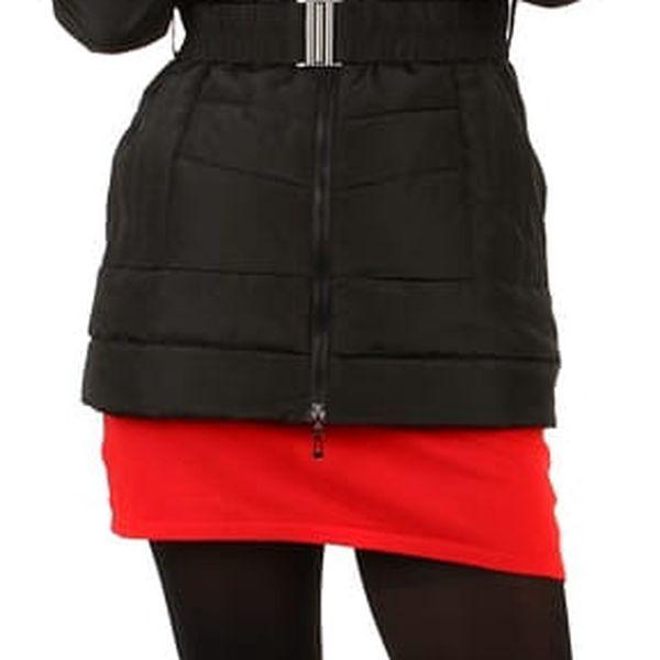 Dámská zimní bunda s kožíškem- i pro plnoštíhlé černá4