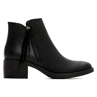 Dámské černé matné kotníkové boty Devon 043
