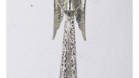 Dakls Kovový anděl s krajkovou sukní na čajovou svíčku