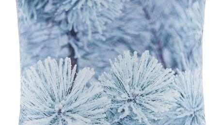 Polštář ozdobný ledové květy, 45/45 cm